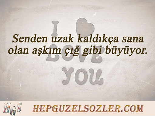Aşk Ayrılık Sözleri - Senden uzak kaldıkça sana olan aşkım çığ gibi...